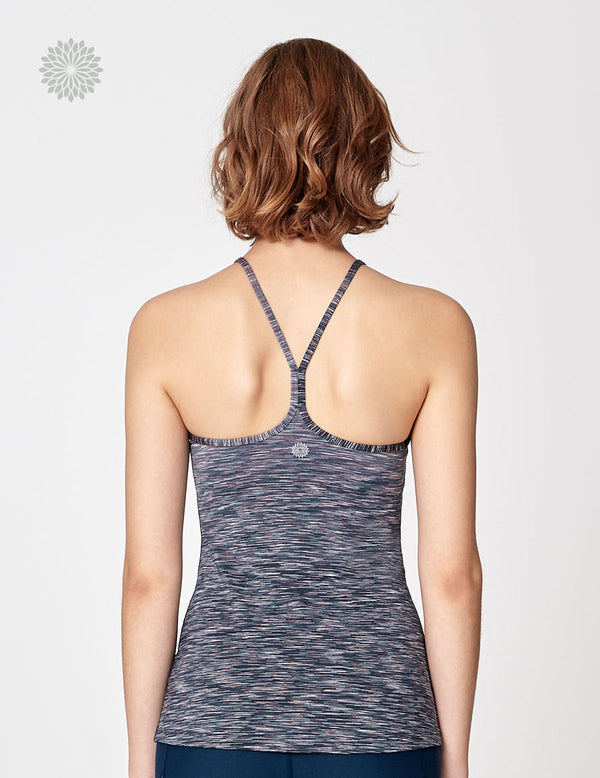 easyoga LA-VEDA Freedom Tank12 - D60 Layer Pinky/Gray Stripe