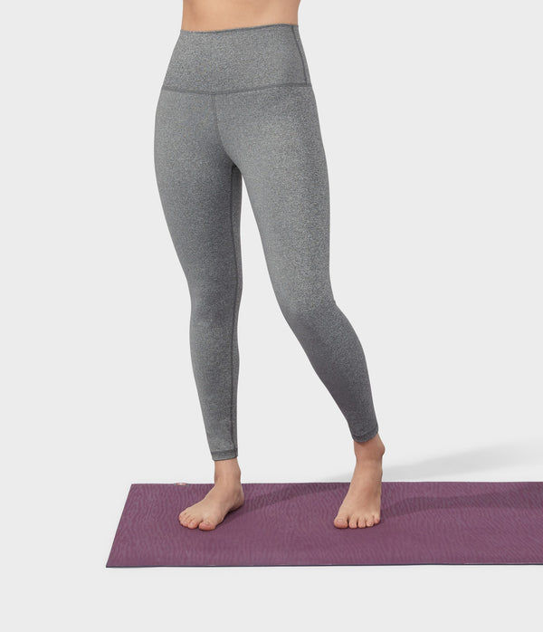 Manduka Apparel - Women's Foundation Legging - High Rise 7/8 W/Media Pocket - Heathered Grey