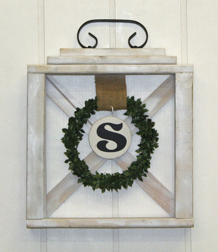 Lantern Wreath Hanger, door decor