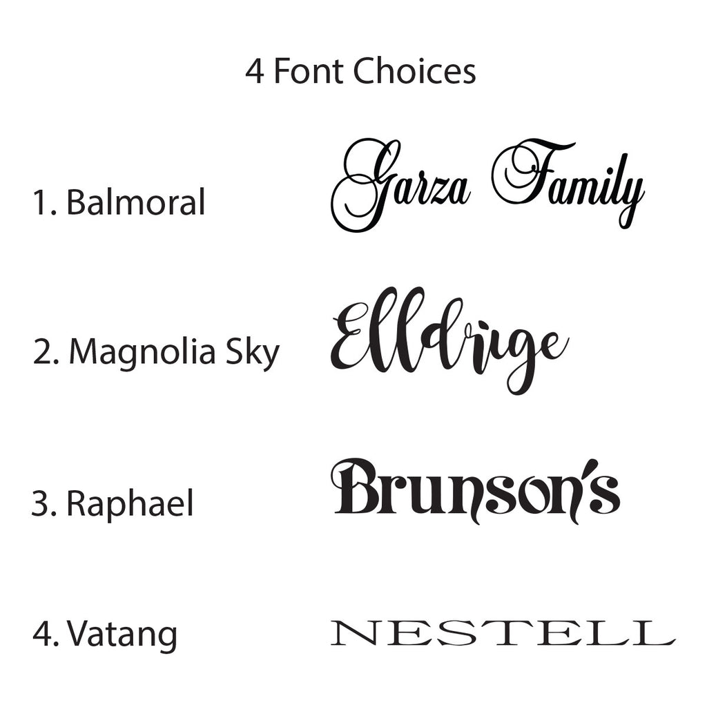 Signs for Closing fonts