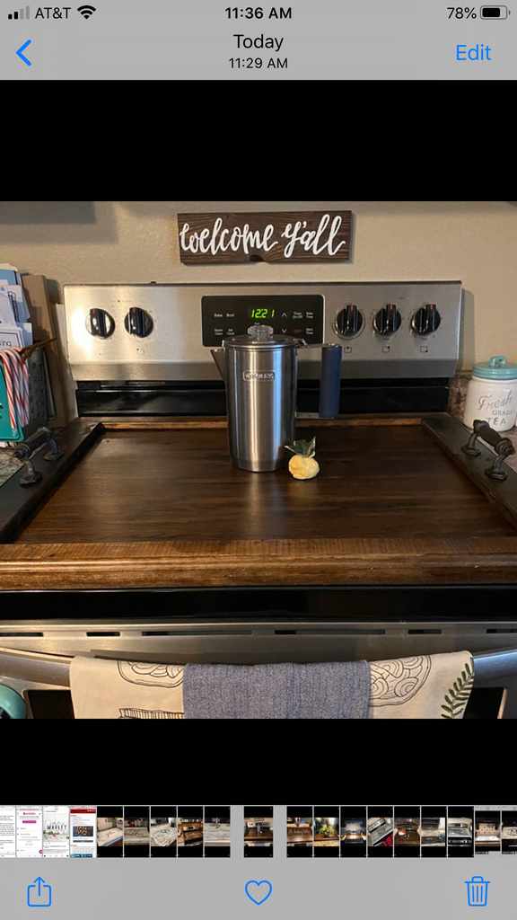 Walnut Stain Stovetop cover