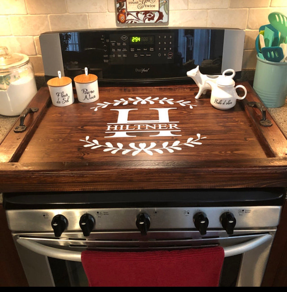 Mahogany Stain Stovetop cover