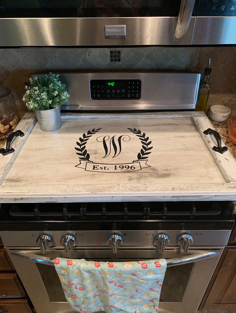 Vintage Linen Stovetop cover