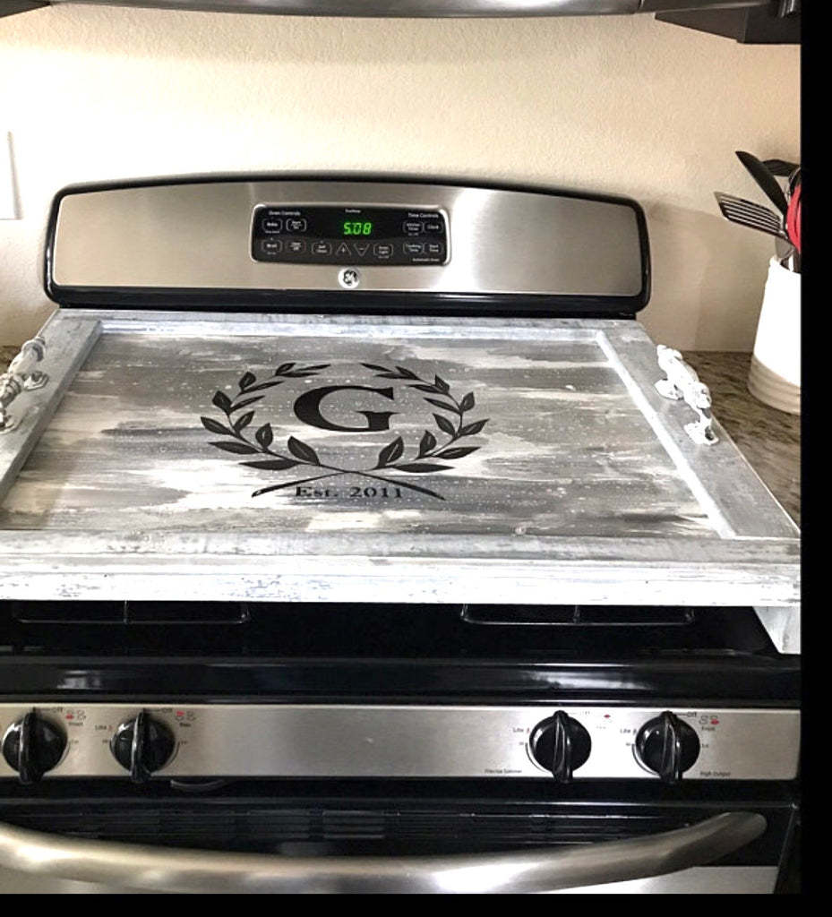 Grey Wash Stovetop cover