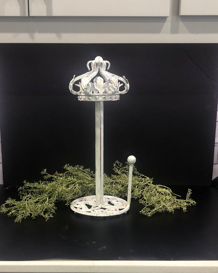 Crown towel holder, paper towel stand, Metal crown paper towel stand,outdoor kitchen paper towel holder, ornate