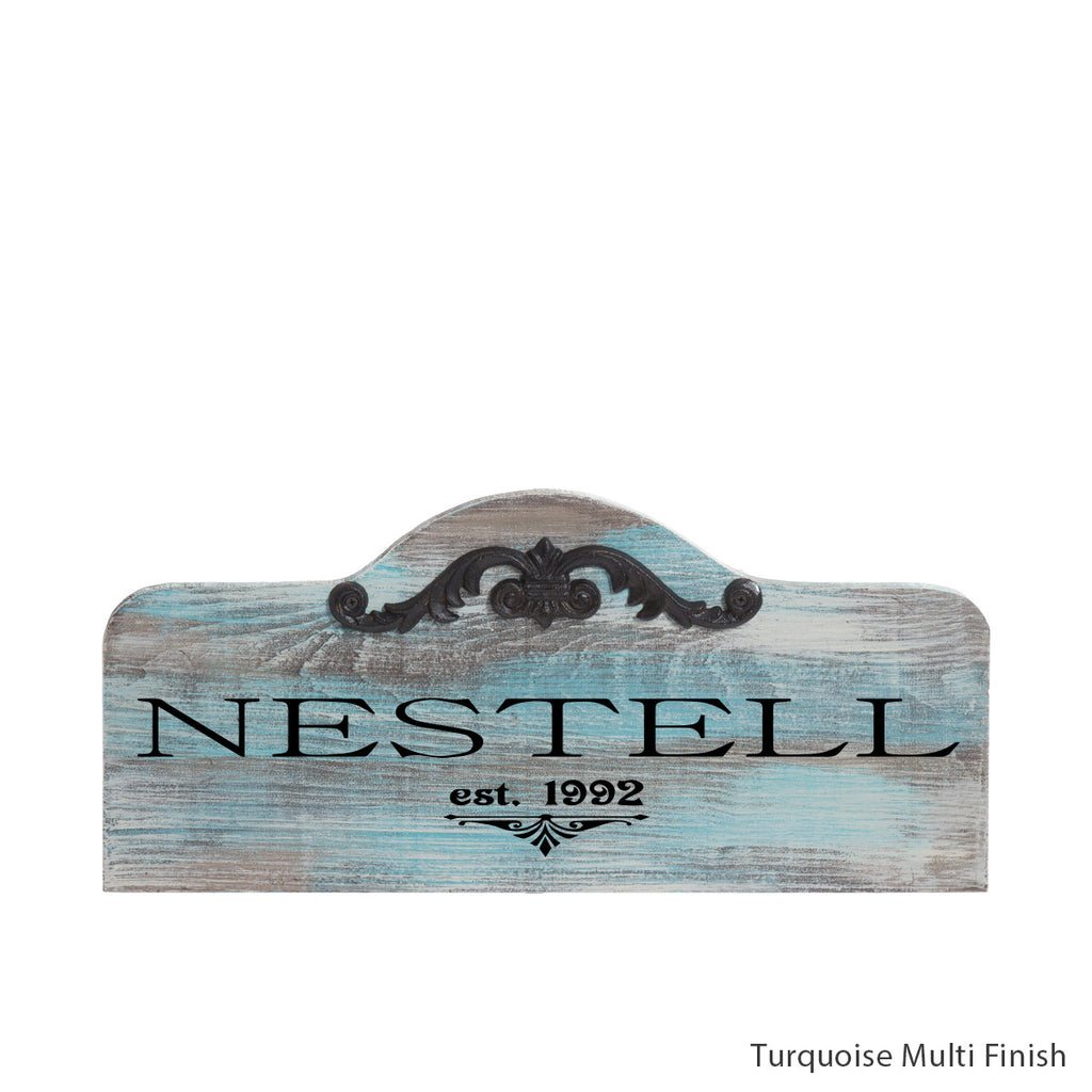 personalized humpback sign by Signs for Closing - Turquoise Multi Finish