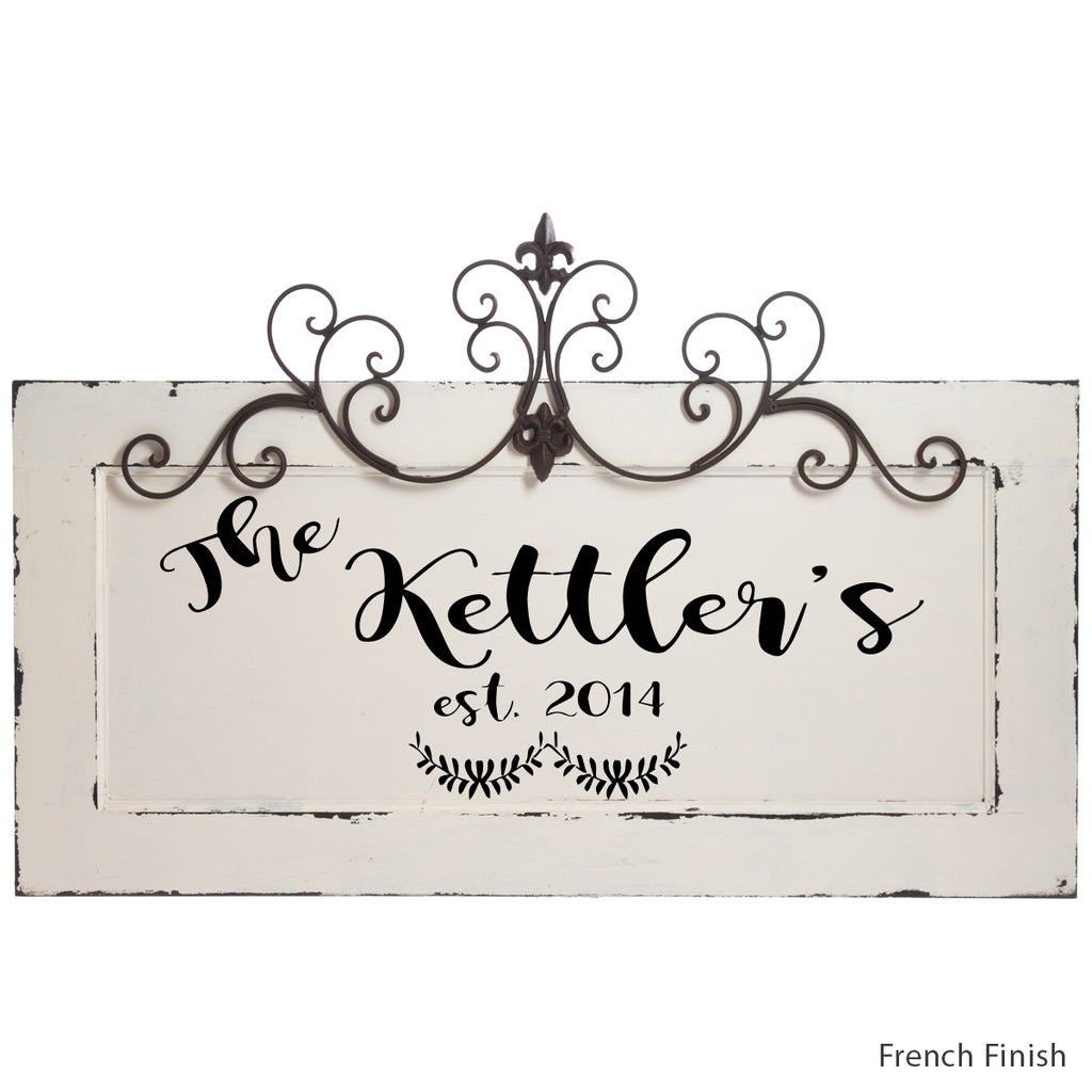 Personalized Plaque with French finish by Signs for Closing