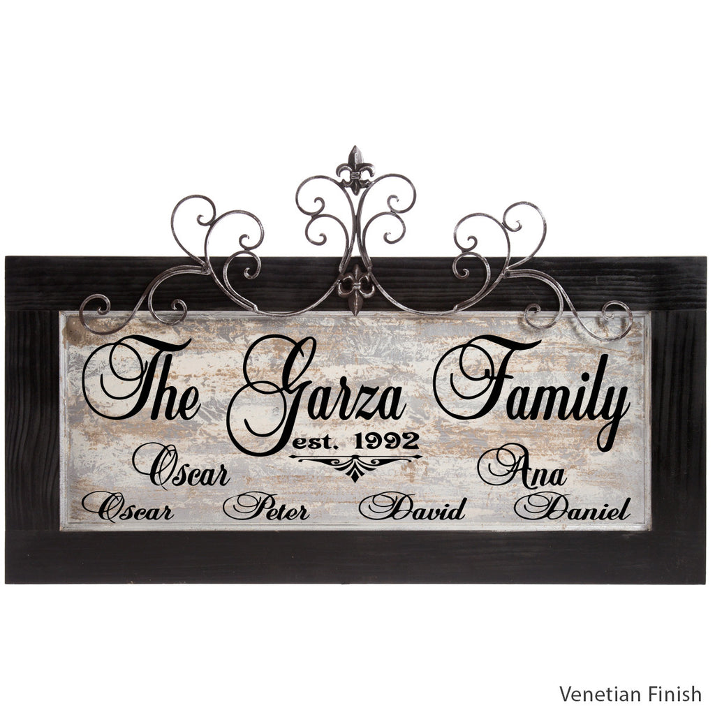 Personalized Plaque with Venetian finish by Signs for Closing