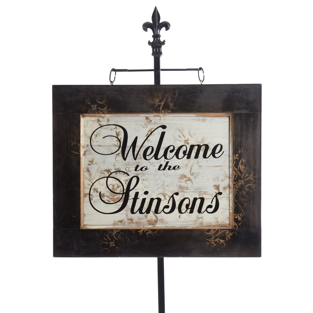 Personalized Entry Sign with Toille finish by Signs for Closing