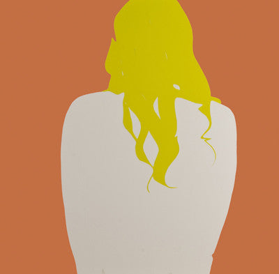 White Back on Coral with Yellow Hair, Natasha Law