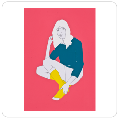 Yellow Socks on Pink, Natasha Law