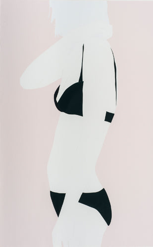 Green Triangles on Pink, Natasha Law