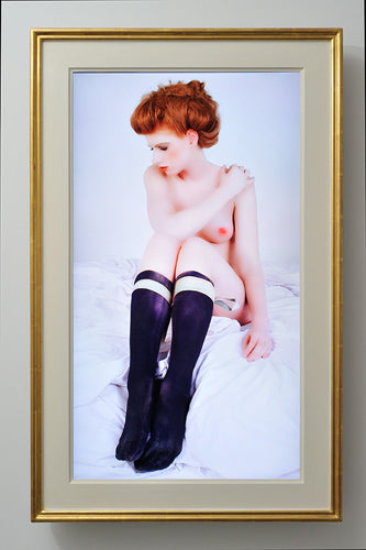 Redhead Removing Stockings, Gerry Fox