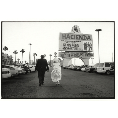 Hacienda Couple in Car Park, Las Vegas - Jane Hilton