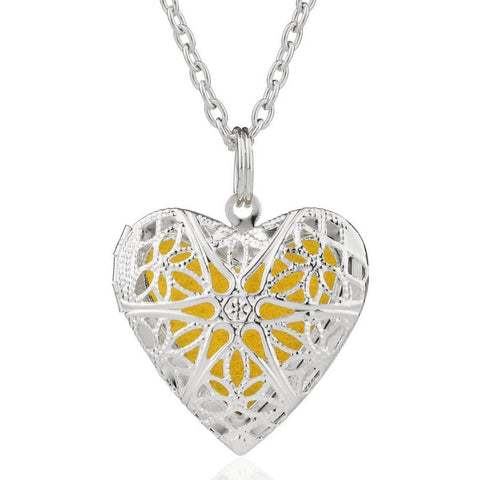 Love Heart Aromatherapy Necklace