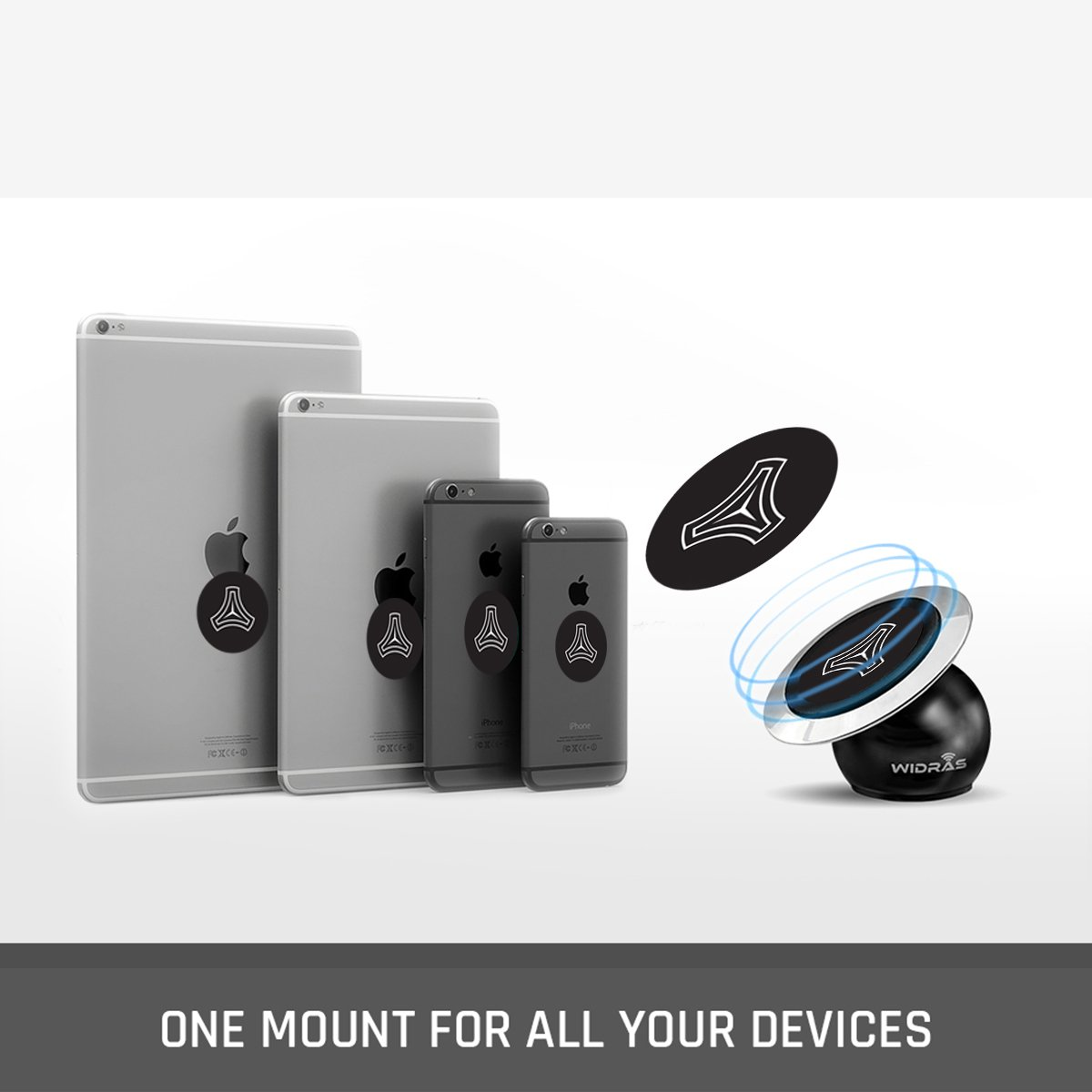 Dashboard Magnetic Car Mount - Eagle Edition - Widras Wireless