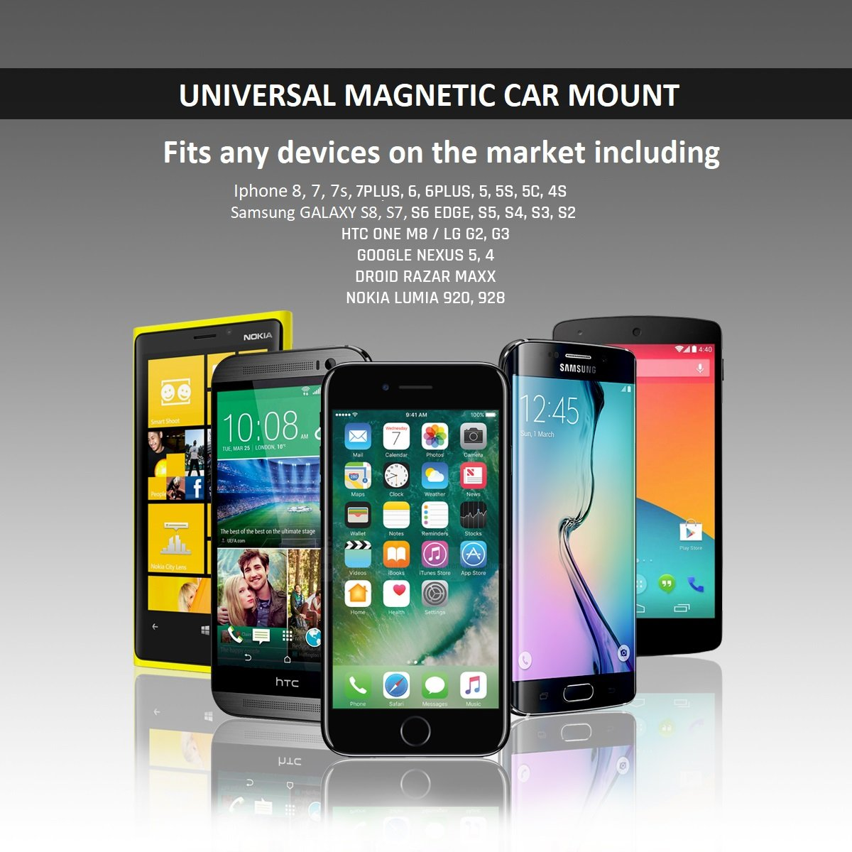 2in1 Magnetic Car Mount