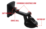 Windshield and Air Vent 2in1 Magnetic Car Mount - Widras Wireless