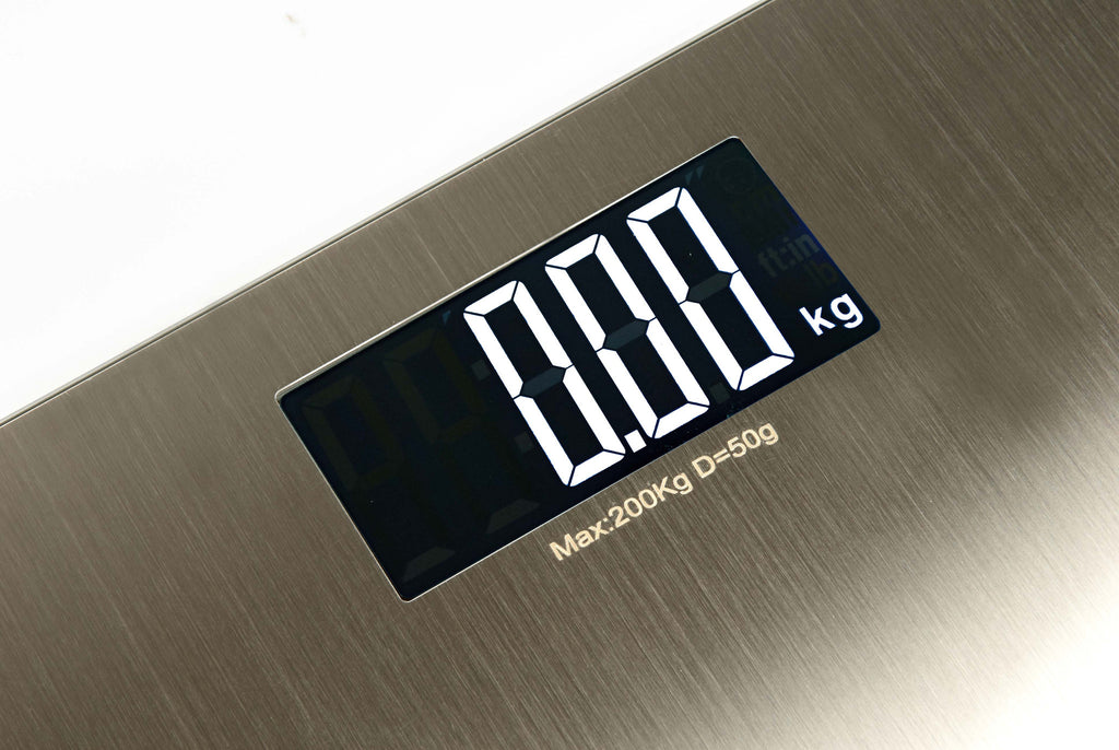 Sonvadia Stainless Steel Digital Bathroom Scale-Large White LCD Display