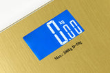 SWS18 Gold Extra Wide Glass Digital Bathroom Scale-Large White LCD Display - Sonvadia Weighing Scales