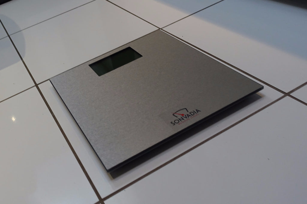 SWS901MAT Ultra Slim Mat Finish Glass Digital Bathroom Scale-Large Display - Sonvadia Weighing Scales