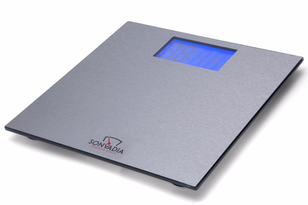 SWS901MAT Ultra Slim Mat Finish Glass Digital Bathroom Scale Large Display    Sonvadia Weighing Scales