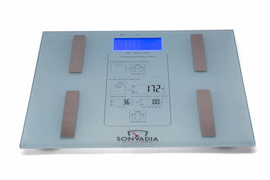 BEST SELLER Round Edge Glass Digital Bathroom Scale-Large White LCD Display