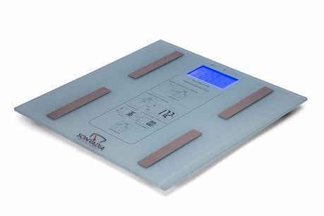 SWS07 -SLIM Square. Glass Digital Body Analyser Scale - Sonvadia Weighing Scales