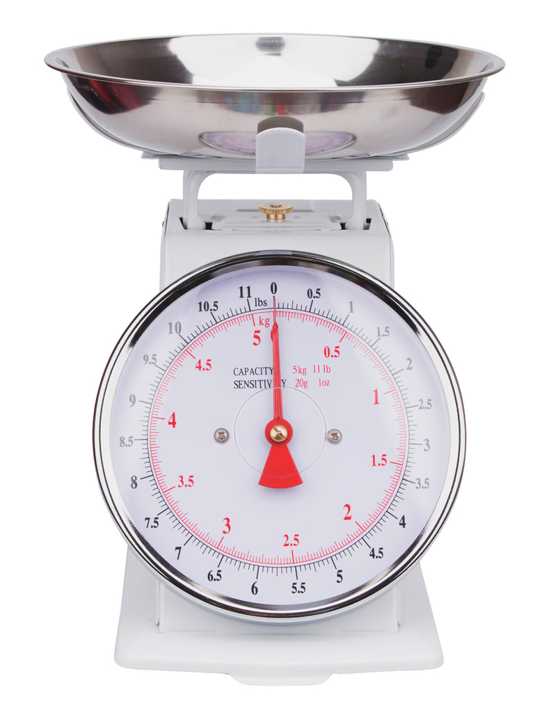 SWSMK01 Kitchen Scale - Mechanical (Stainless Steel Bowl and Powder Coated Housing)- Large Dial
