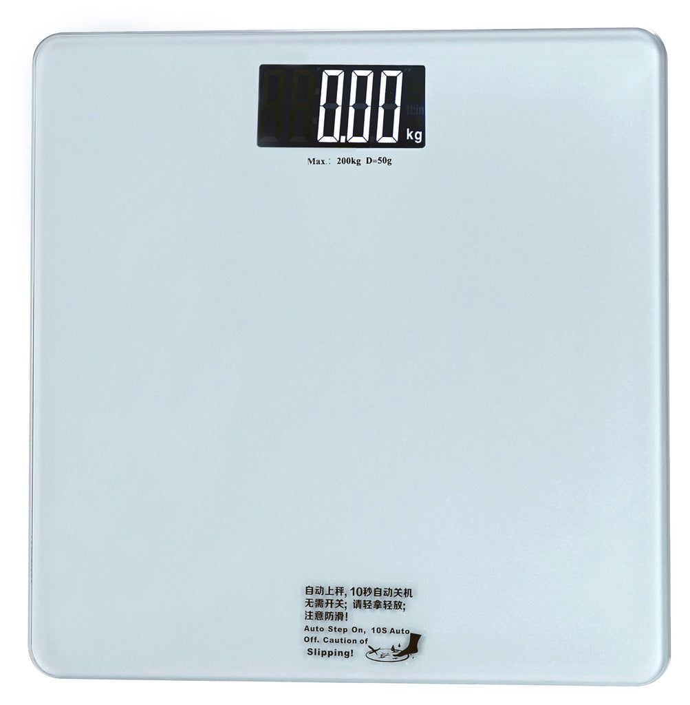 BEST SELLER Round Edge Glass Digital Bathroom Scale-Large White LCD Display - Sonvadia Weighing Scales