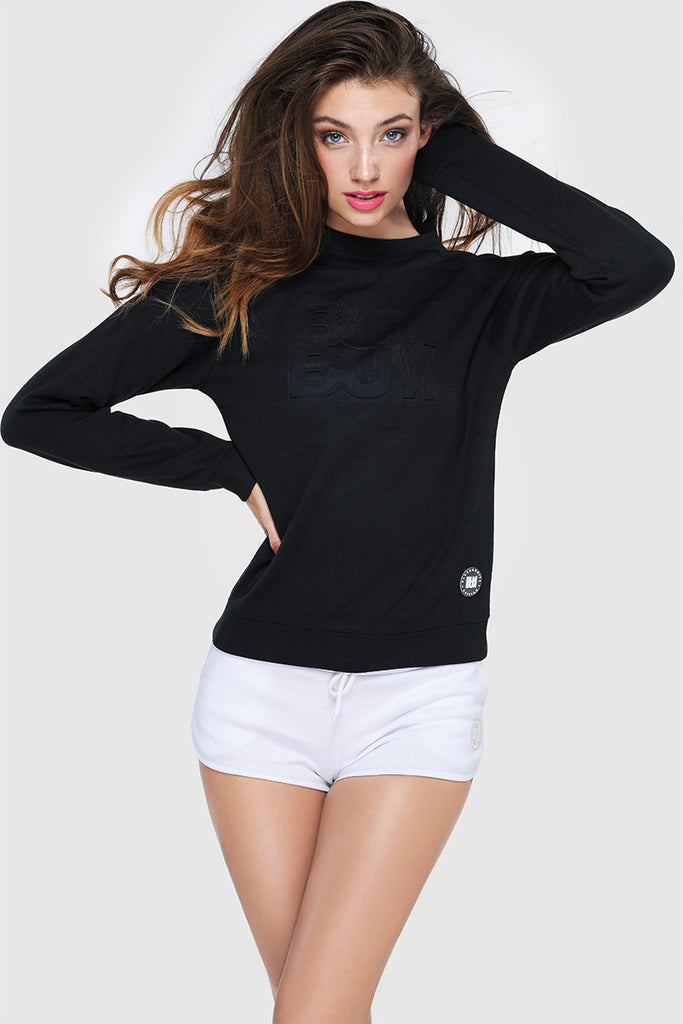 MESHBACK SWEATER - PURE BLACK