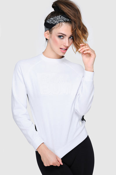 MESHBACK SWEATER - WHITE