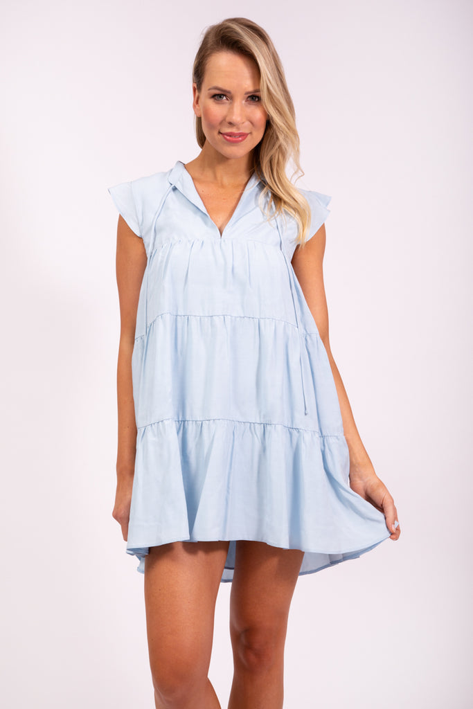 BABYDOLL DRESS - COOL BLUE