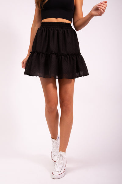 FRILLY SKIRT - BLACK
