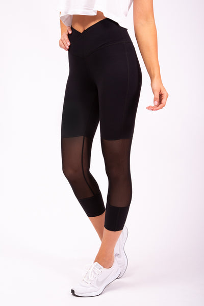 7/8 MESH TIGHTS - BLACK