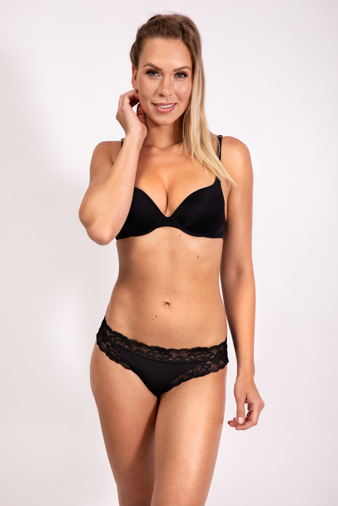 PUSH UP BRA - BLACK