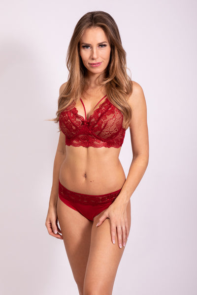 PASSION WAISTED CUP BRA - LIPSTICK RED
