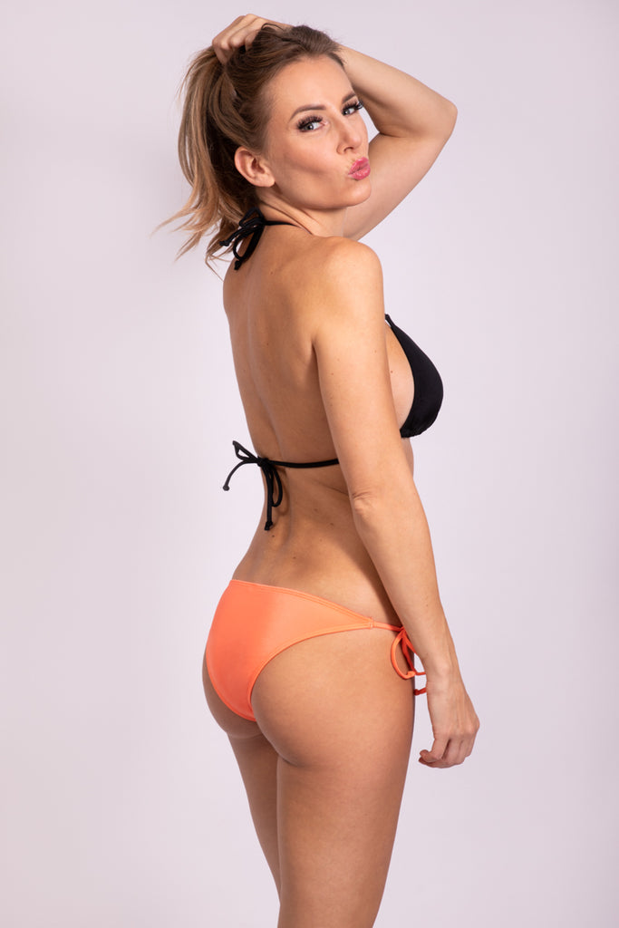 SIDE TIE BIKINI PANTY - JUICY APRICOT