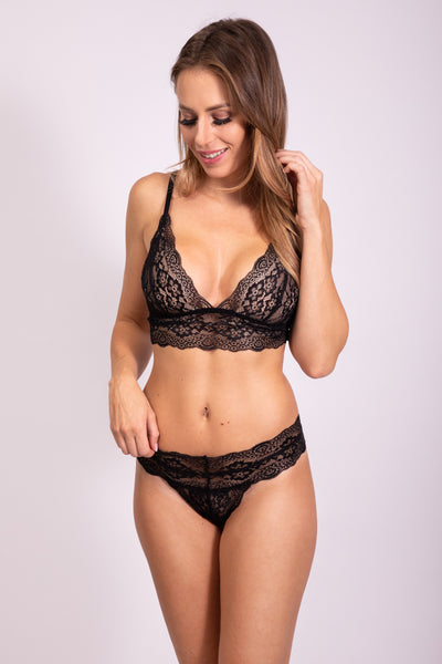 TRUE LOVE BRALETTE - JET BLACK