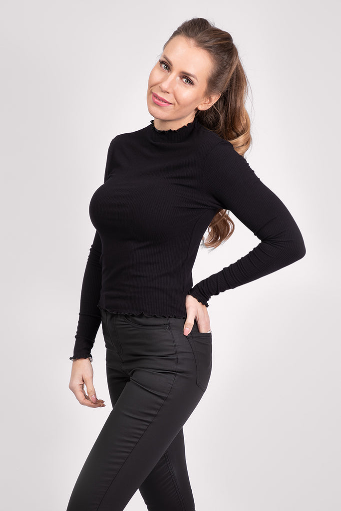 TURTLENECK LONGSLEEVE - BLACK