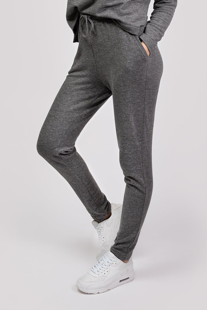 COZY TRACK PANTS - COOL GREY