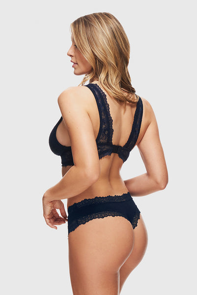 LOVELY LACE CHEEKSTER - NAVY