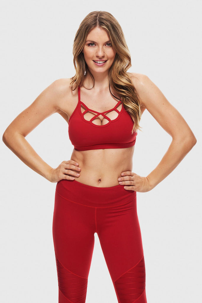 BREEZY SPORTS BRA - RIBBON RED