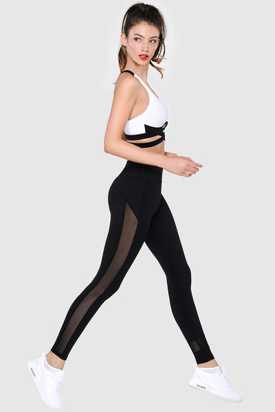 SKINNY MESH TIGHTS  - PURE BLACK