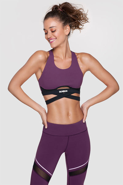 WRAP ME SPORTS BRA - ELECTRIC PLUM