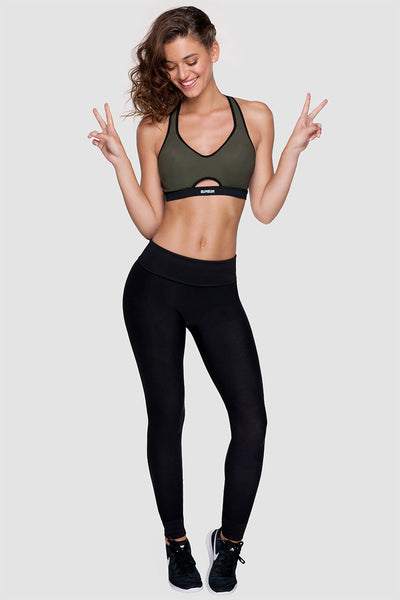 MOTION SPORTS BRA - ARMY GREEN