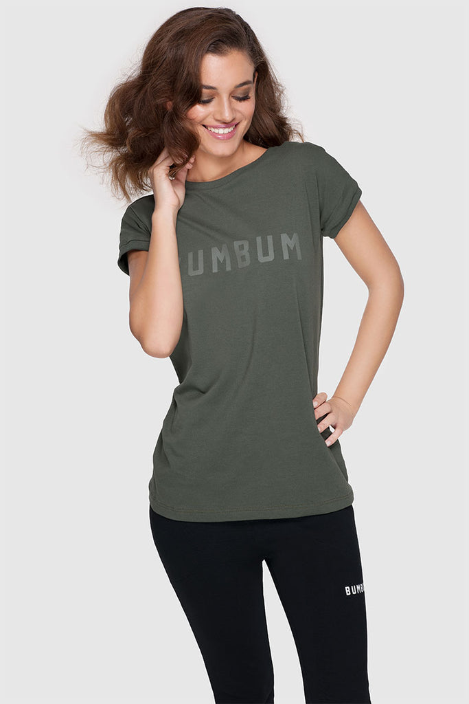 BACK TEE - ARMY GREEN