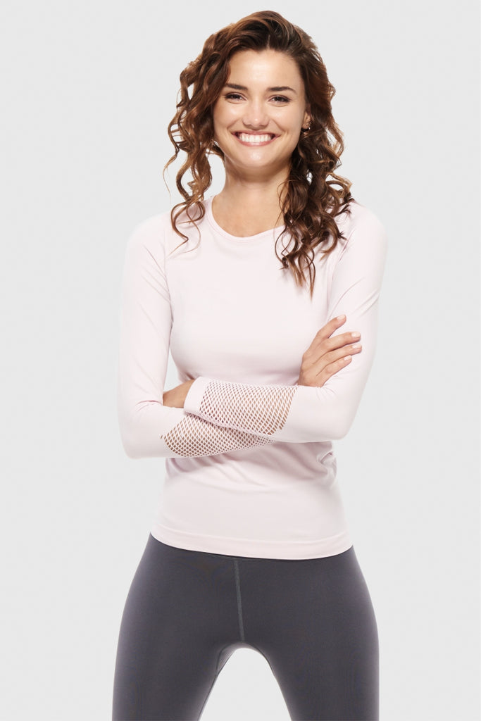 SEAMLESS LONGSLEEVE - HAPPY BLUSH