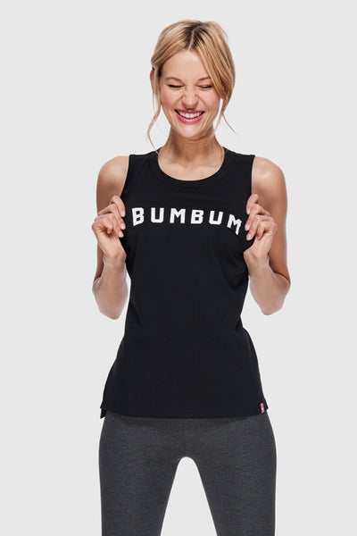 HIGH NECK BUMBUM TANK - BLACK