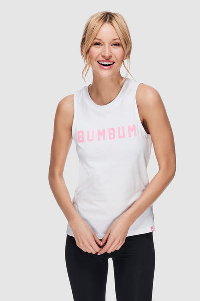 HIGH NECK BUMBUM TANK - WHITE